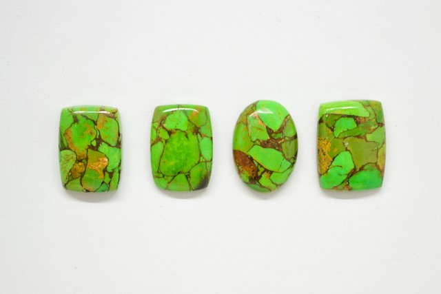 CABOCHONS-Green-Copper-Mohave
